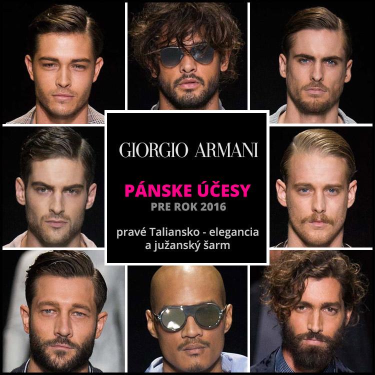 Giorgio Armani: pravé účesové Taliansko!