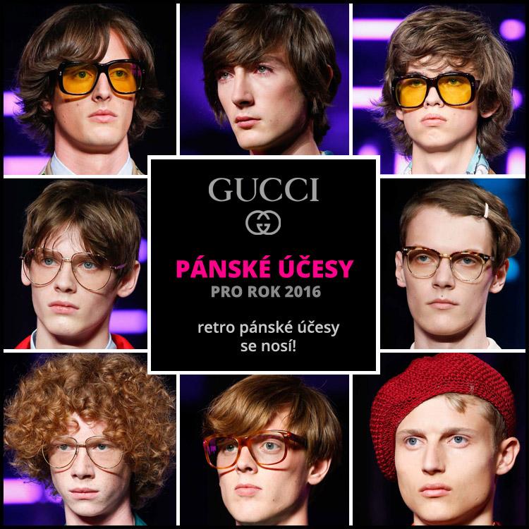 Gucci: retro pánske účesy sa nosia!