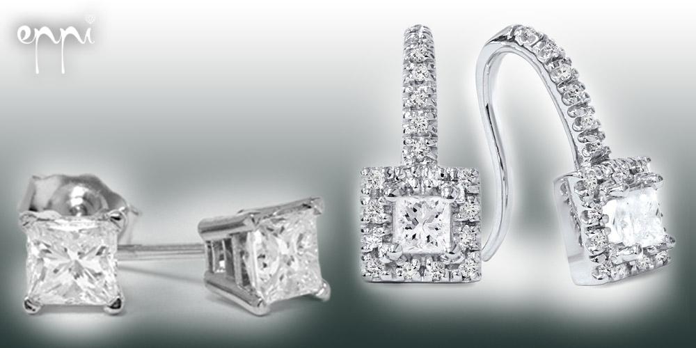 Diamantové náušnice sú vhodné na každú príležitosť a nenájdete ženu, ktorej by nepristali. Kúpite ich v internetovom klenotníctve Eppi.cz.