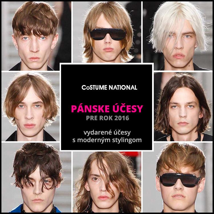 Costume National: účesy pre mužov 2016 s moderným stylingom