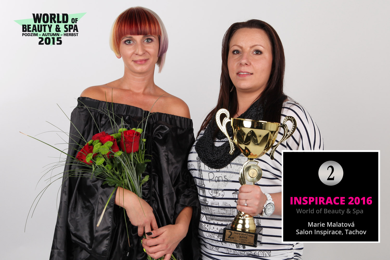 World of Beauty & Spa – Inšpirácie 2016: 2. miesto Marie Malatová, Salon Inspirace, Tachov