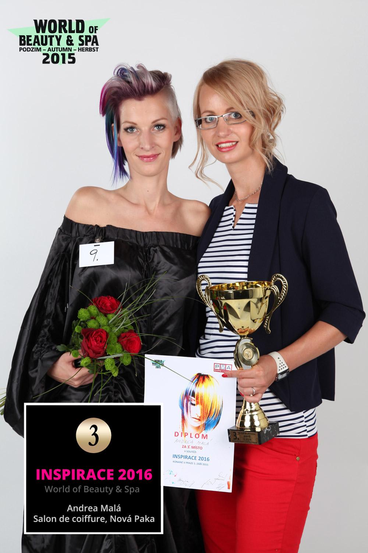 World of Beauty & Spa – Inšpirácie 2016: 3. miesto Andrea Malá, Salon de coiffure, Nová Paka