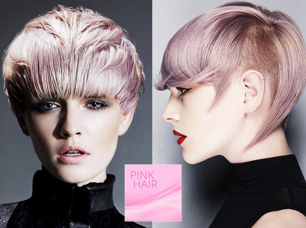 Trendy farby pre krátke vlasy jeseň / zima 2015/2016: ružová farba vlasov je pre krátky strih perfektná!