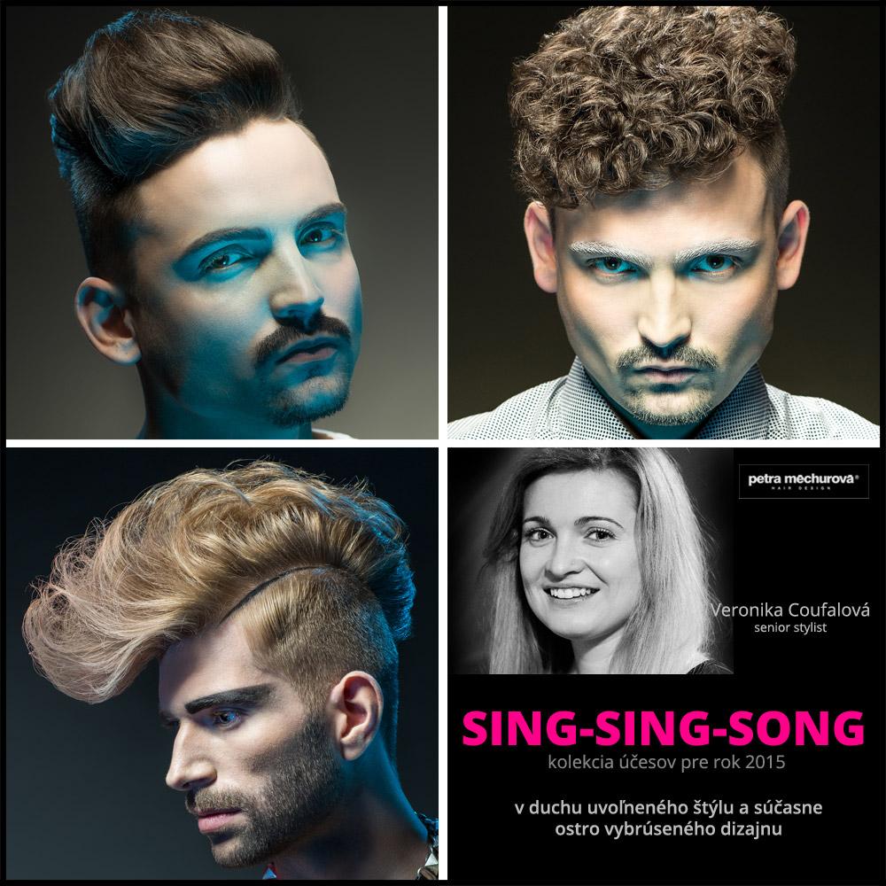 Kolekcia účesov Salon Petra Měchurová SING-SING-SONG 2015 – účesy: Veronika Coufalová