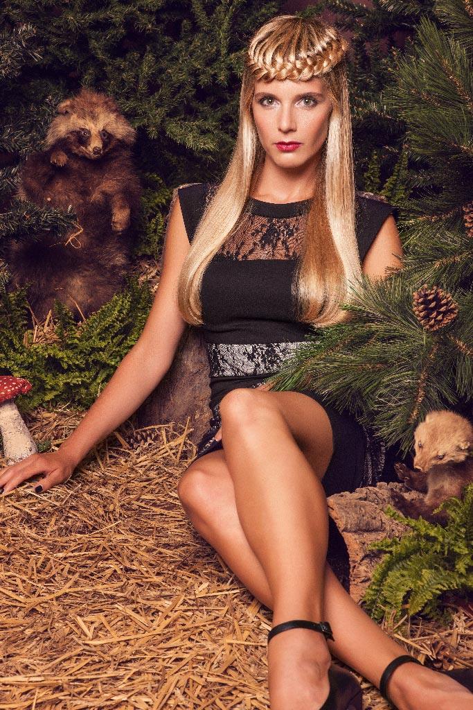 Honza Kořínek jeseň/zima 2015/2016 – kolekcia In THE woods: Henrieta Hornáčková