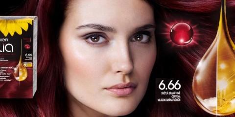 Farby Olia Garnier majú nový odtieň pre červené vlasy. Tentoraz nás dostane nádherná karmínová farba vlasov.