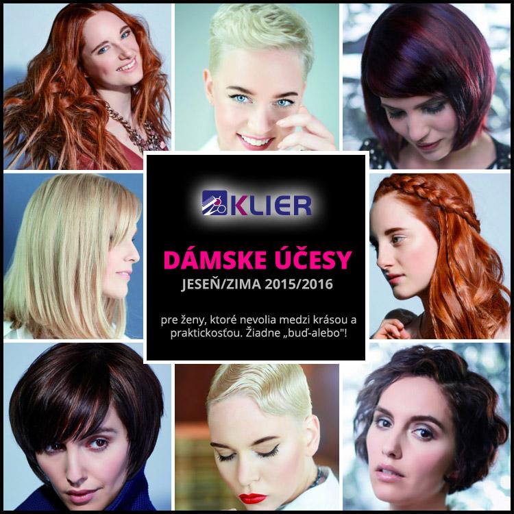 Klier účesy pre sezónu jeseň / zima 2015/2016 – kolekcia prináša nové dámske aj pánske účesy.