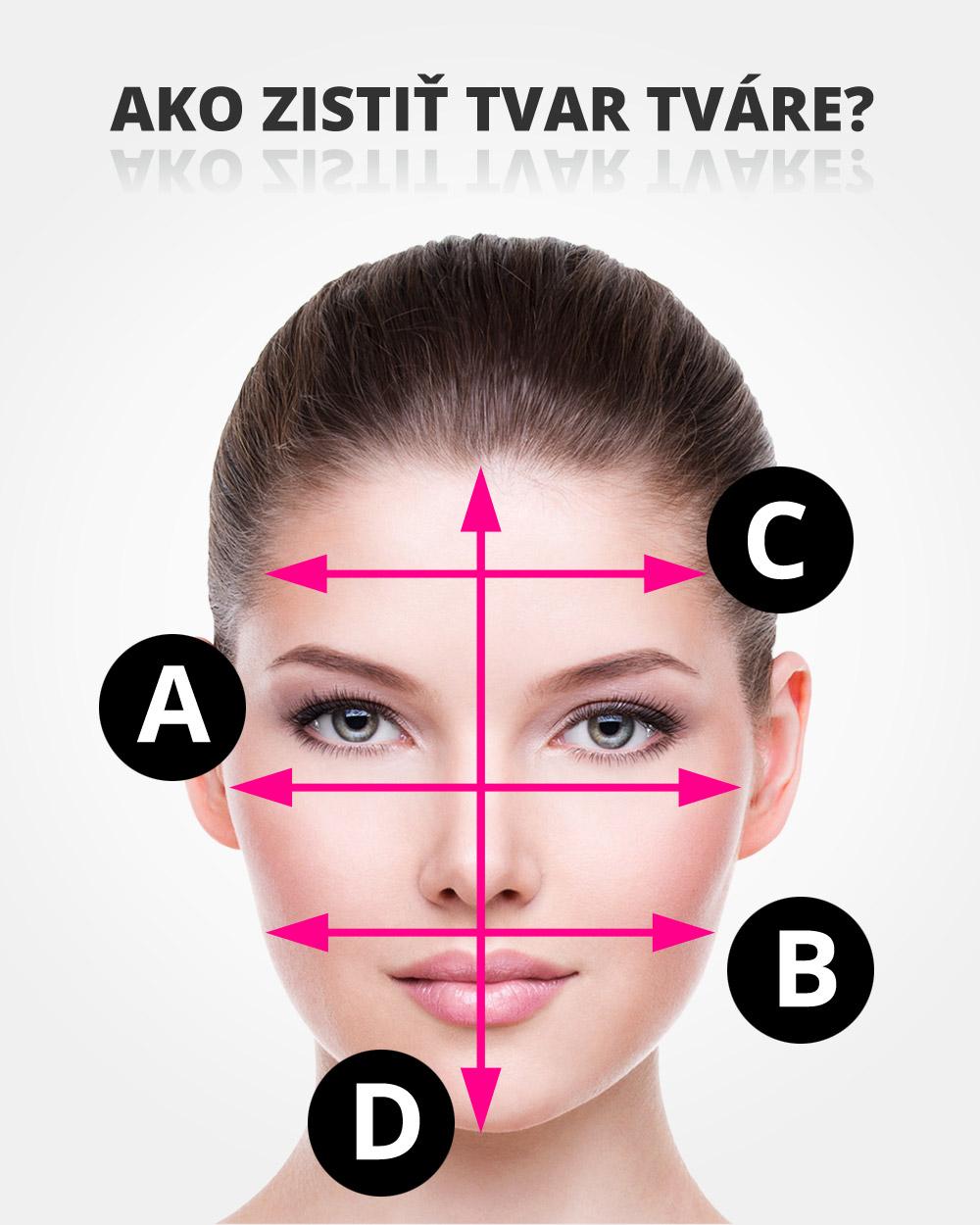 Ako zistiť tvar tváre? Zmerajte svoju tvár na štyroch miestach a zistite, aký je váš tvar tváre.