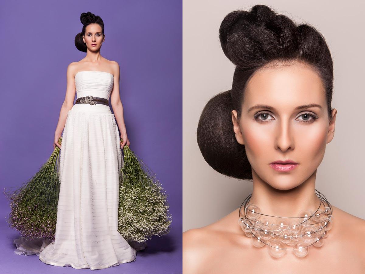 Extravagancia v svadobných účesoch má tento rok zelenú