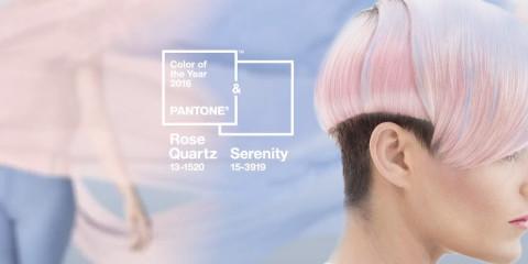 Farba roka 2016 nie je len jedna – TOP farby Pantone sú hneď dve! Je to pastelová staroružová, ktorá má názov Rose Quartz (13-1520) a pastelová modrá s názvom Serenity (15-3919).
