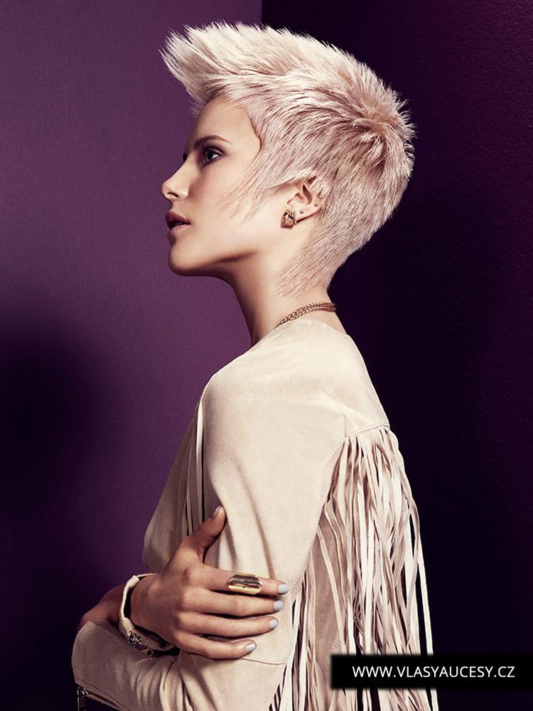 Krátke vlasy 2016 ako bezúdržbová klasika od Suzie McGill (BHA 2015): Dokonalý profesionálny zostrih robí z tohto účesu úplne bezúdržbové vlasy. Farba na obrázku je opäť Rose Quartz, ale nie je to podmienkou. Môžete kúzliť s blond, pastelmi aj zostať u hnedých vlasov. Účes môže a nemusí byť s melírom. Dokonalému strihu pristane akákoľvek farba.