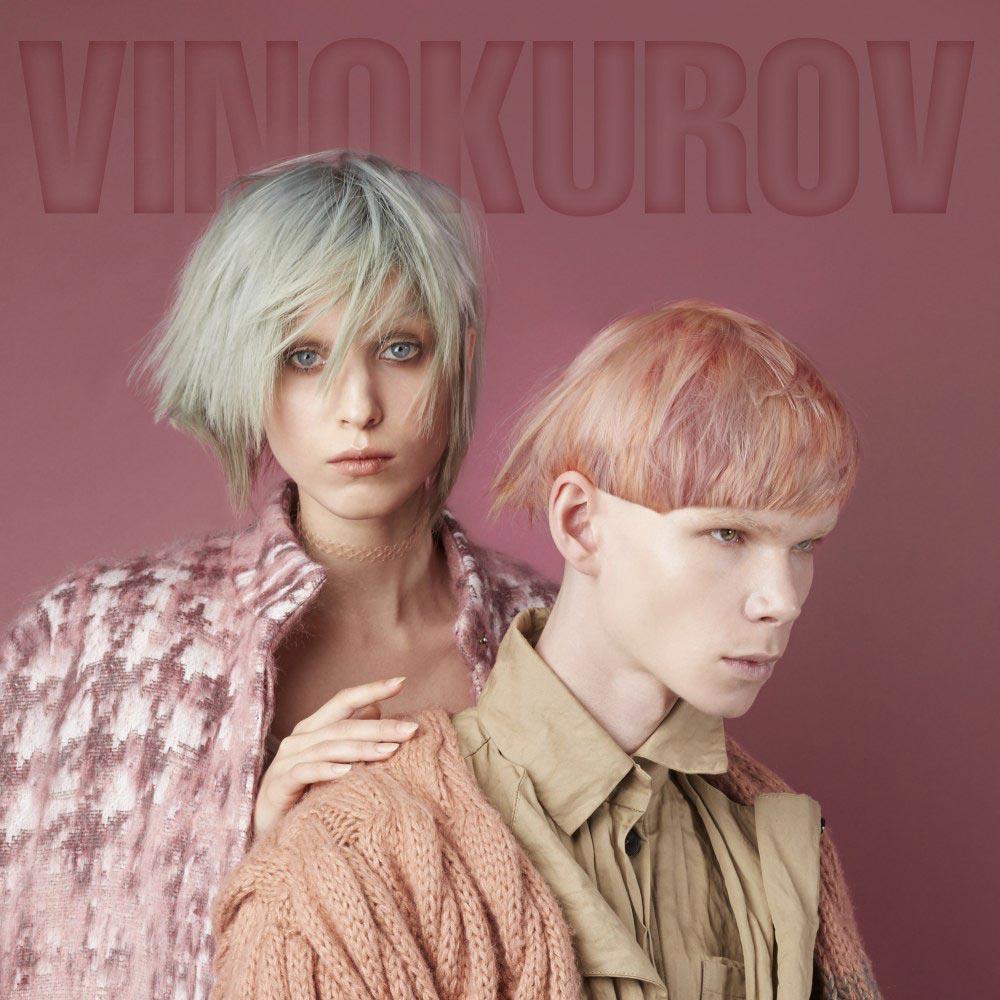 Farebné vlasy 2016 – pastelové farby ozvláštni krátke aj dlhé účesy a obľúbi si sivasté nádychy alebo melírovanie len šedou. (Dmitry Vinokurov, kolekcia Ei Mi – Это я)