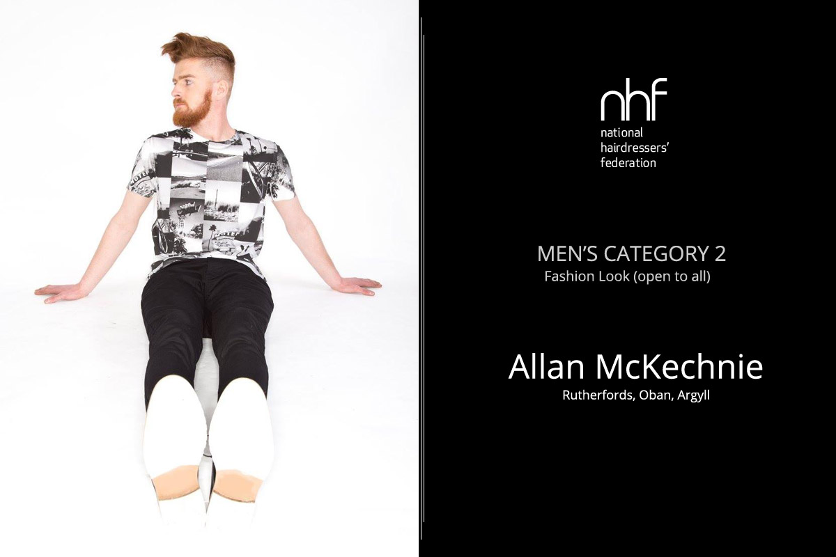 Fotoštylista Británie 2015 (Photographic Stylist – NHF) – víťaz Allan McKechnie – Rutherfords, Oban, (Men 'Category 2 – Fashion Look).