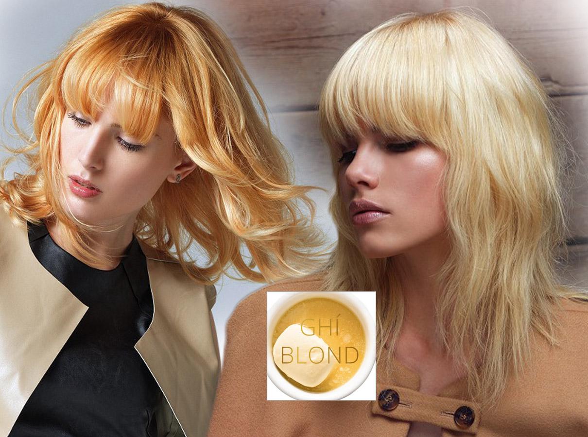 Farby pre polodlhé vlasy – trendy jeseň/zima 2015/2016: Ghí blond pre tých, pre ktorých je blond farba farbou Zlatovlások.