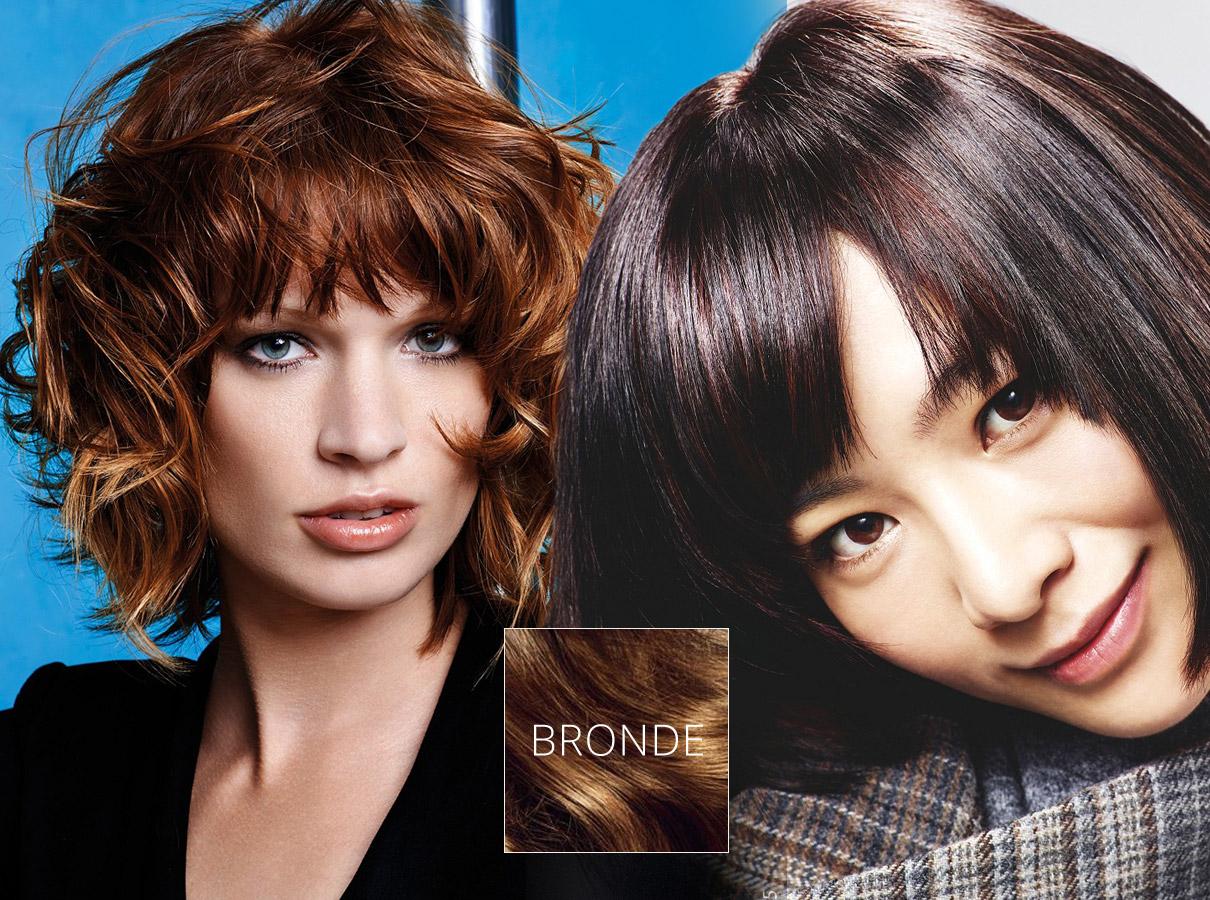 Farby pre polodlhé vlasy – trendy jeseň/zima 2015/2016: Bronde melíry do hnedých vlasov oživia vlasy každej brunetky.
