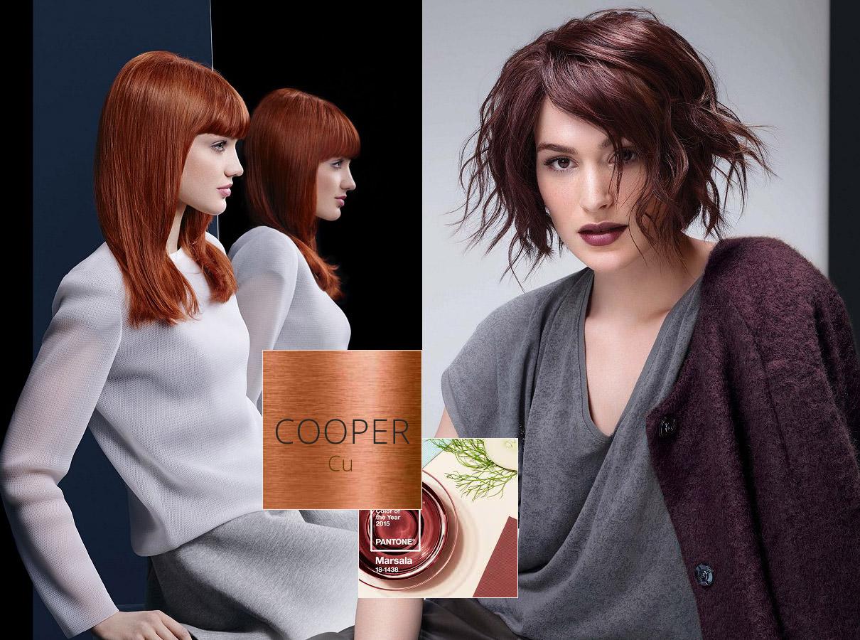 Farby pre polodlhé vlasy – trendy jeseň/zima 2015/2016: Hnedočervené krásky -Marsala a meď, to stále nevzdávajú.