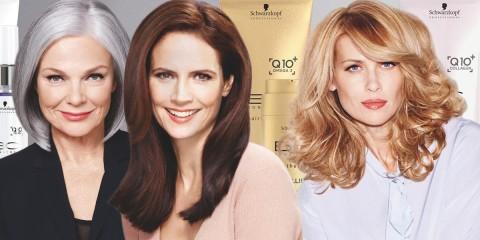 Staršie ženy potrebujú špeciálnu vlasovú kozmetiku. Schwarzkopf Professional vyvinul špeciálny kozmetický rad na zrelé vlasy – BC EXCELLIUM Q10 +.