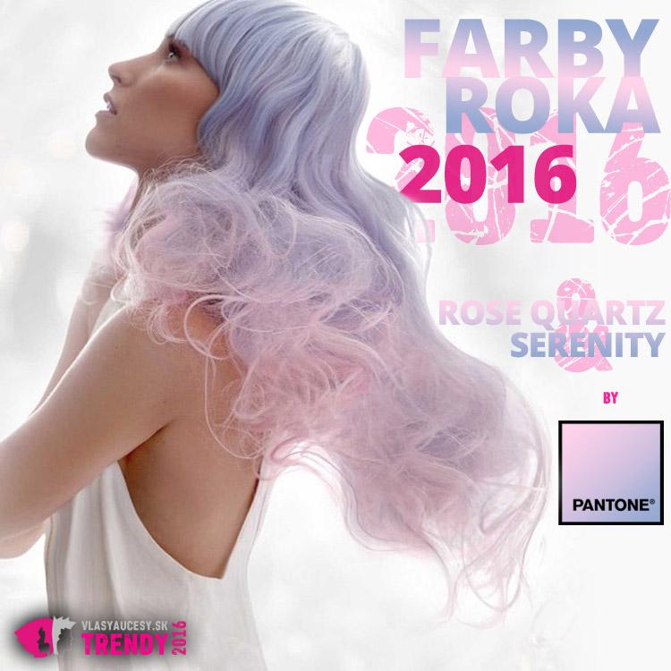 Rose Quartz a Serenity – farby roka 2016. (Účes: Alanno Sluser, Contessa 2015 – Canadian Hairdressing Awards.)