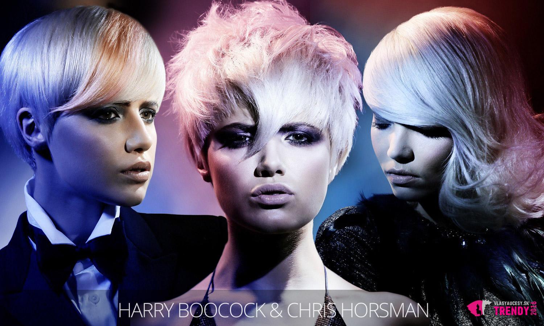 Ružové a modré pastely dokážu blond vlasy celkom premeniť. (Účesy sú z kolekcie Harry, vlasy: Harry Boocock and Chris Horsman, foto: Jim Crone, MUA: Lan Nguyen, styling: Desiree Leader.)