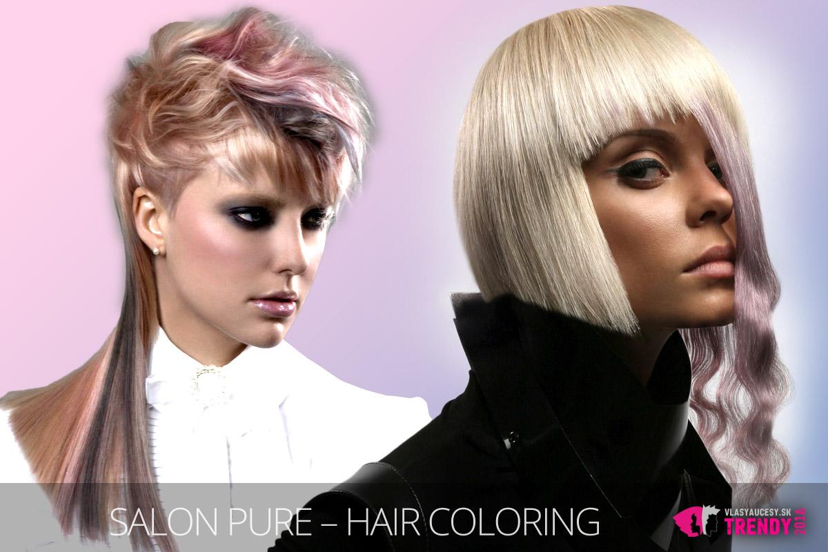 Ružová Rose Quartz zmení vlasy doslova na šperk. (Účesy sú z kolekcie Salon Pure – Hair Coloring, Montreal / Quebec.)