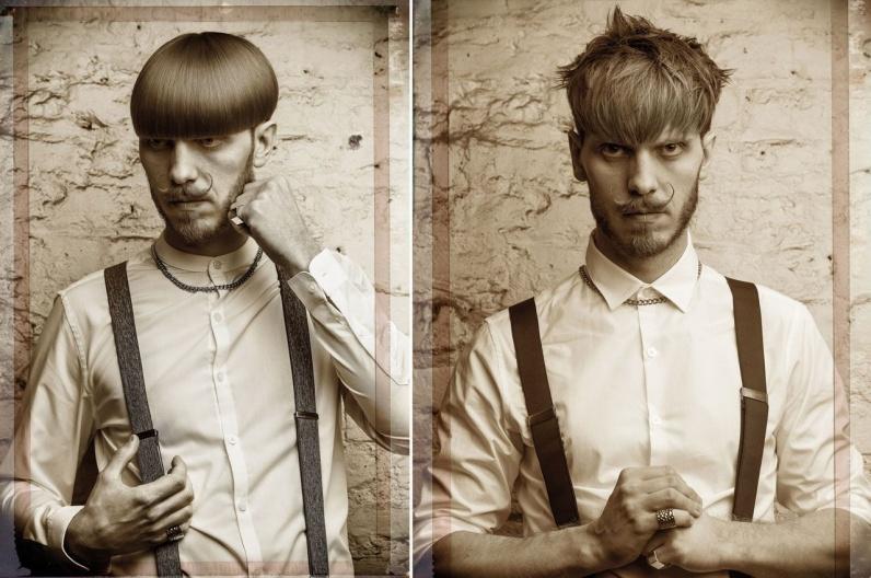 Alexander Lepschi a jeho inšpiratívna brada 2016 – Austrian Hairdressing Awards 2015. Poriadne husté fúzy kontrastujú so stupňovito zostrihaným účesom. Raz s uhladenou a druhýkrát s prirodzene rozvlnenou ofinou. Podobne sa hladký styling sa shag štýlom strieda u kratších fúzov s pyšne nastylovanými fúzikmi.