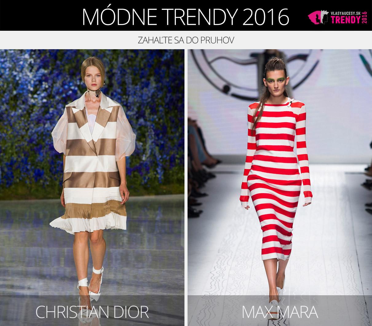 c60e2dd03 Módne trendy 2016 – zahaľte sa do pruhov. (Zľava: Christian Dior a Max