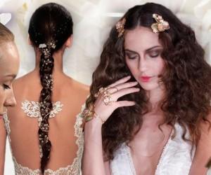 Aké nápadité svadobné účesy pre jar a leto 2016 predviedli módni návrhári a ich vlasový štylisti? Pozrite sa na trendy pre svadby a svadobné účesy 2016.