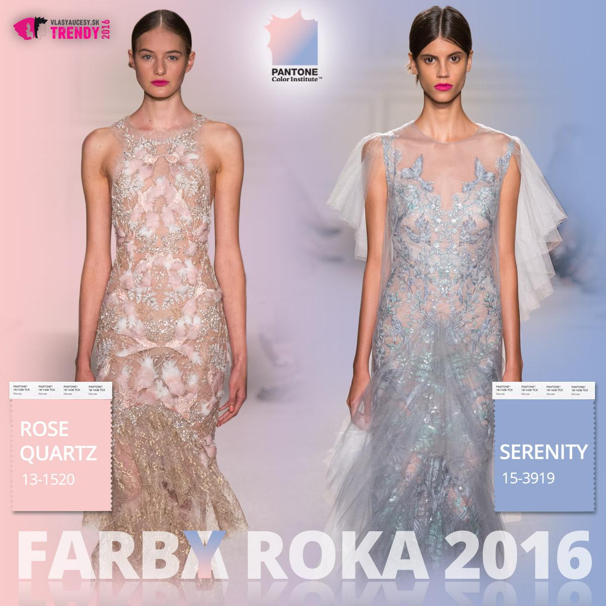 Farby roka 2016 a móda Marchesa – kolekcia jar / leto 2016.