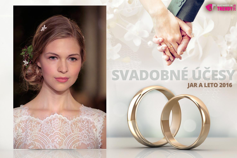 Svadobné účesy pre jar a leto 2016 ku kolekcii svadobných šiat Carolina Herrera.