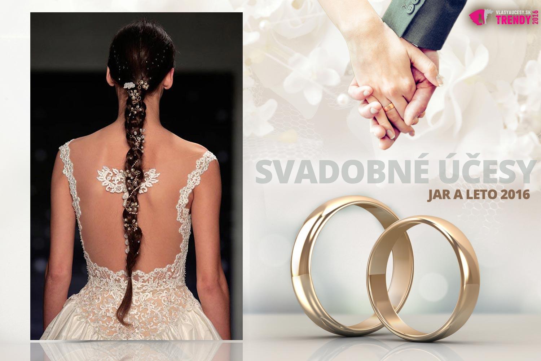 Svadobné účesy pre jar a leto 2016 ku kolekcii svadobných šiat Reem Acra.