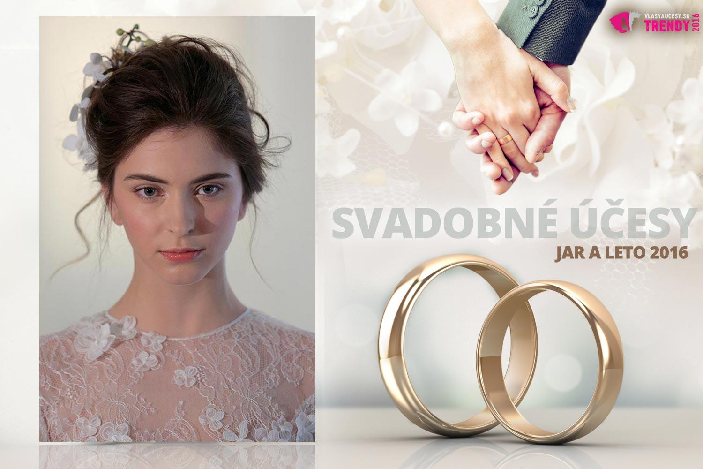 Svadobné účesy pre jar a leto 2016 ku kolekcii svadobných šiat Angel Sanchez.