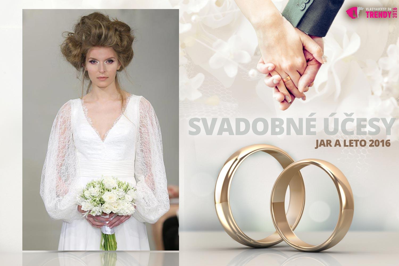 Svadobné účesy pre jar a leto 2016 ku kolekcii svadobných šiat Theia.