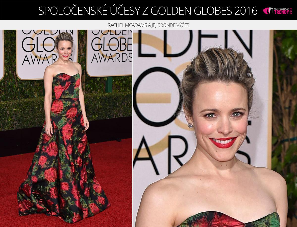 Spoločenské účesy z Golden Globes 2016 – Rachel McAdams a jej bronde výčes.
