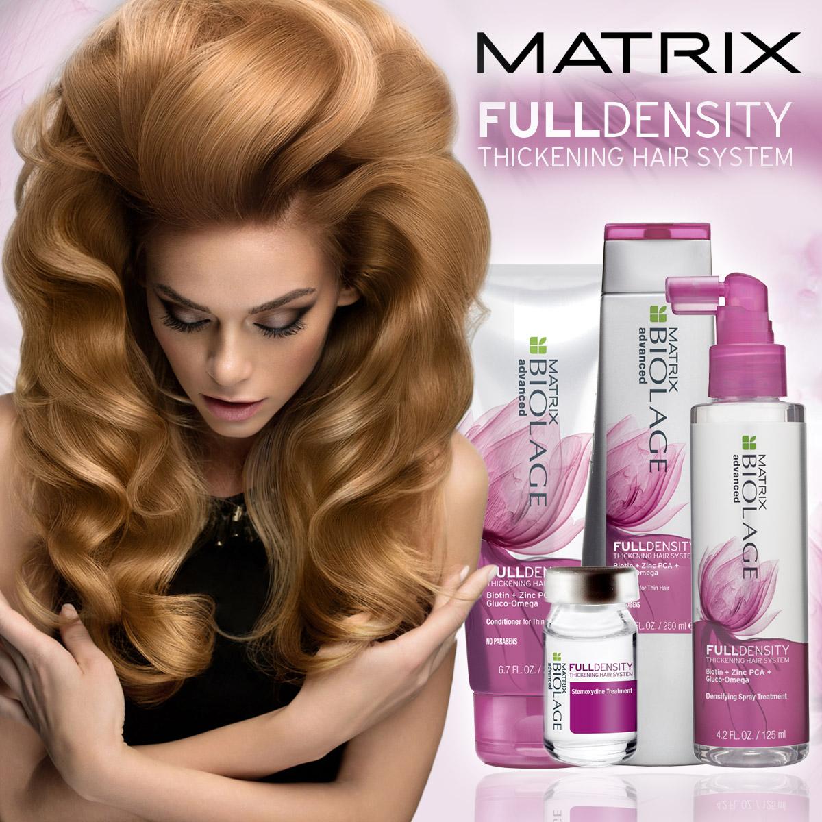 Fulldensity Biolage Advanced od Matrix odstráni vaše problémy s riedkymi vlasmi.