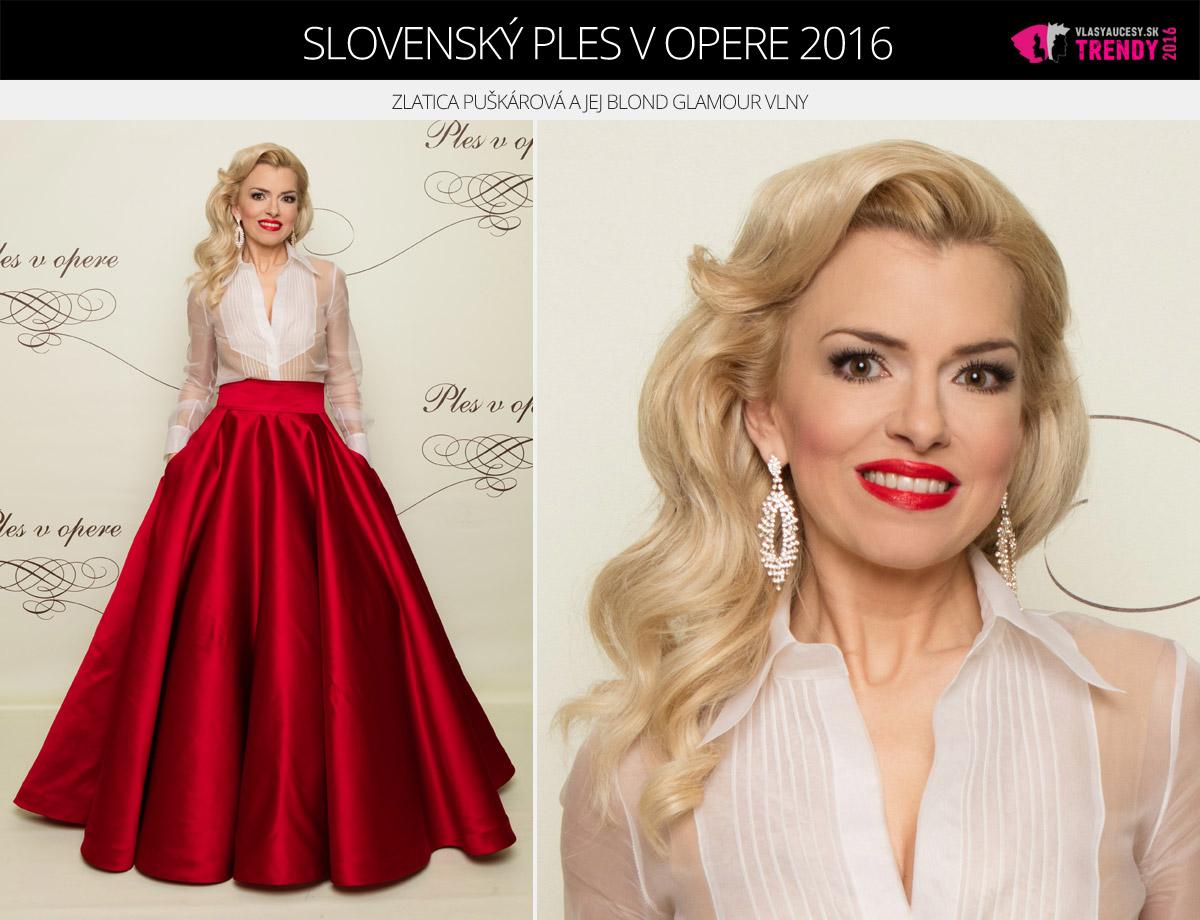 Ples v opere 2016 Bratislava – Zlatica Puškárová