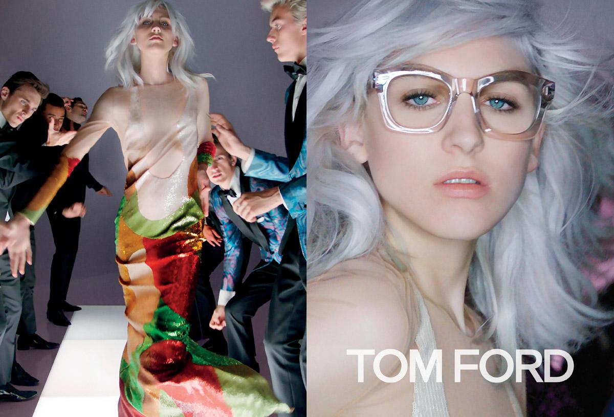 Trendy účesy 2016 v módnych kampaniach: Tom Ford, S/S 2016