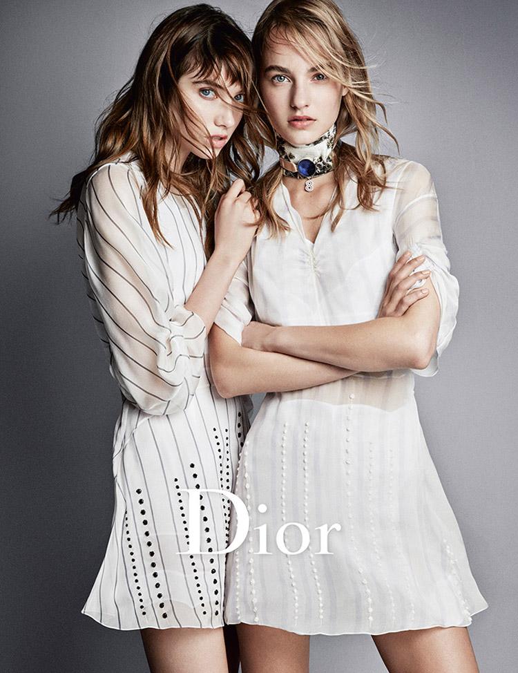 Trendy účesy 2016 v módnych kampaniach: Dior, S/S 2016.