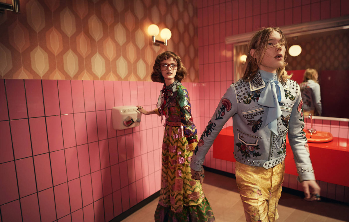 Trendy účesy 2016 v módnych kampaniach: Gucci, S/S 2016.