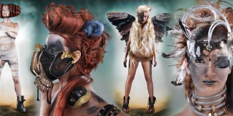 Eva Komínková – avantgardné účesy z kolekcie Mad Max.