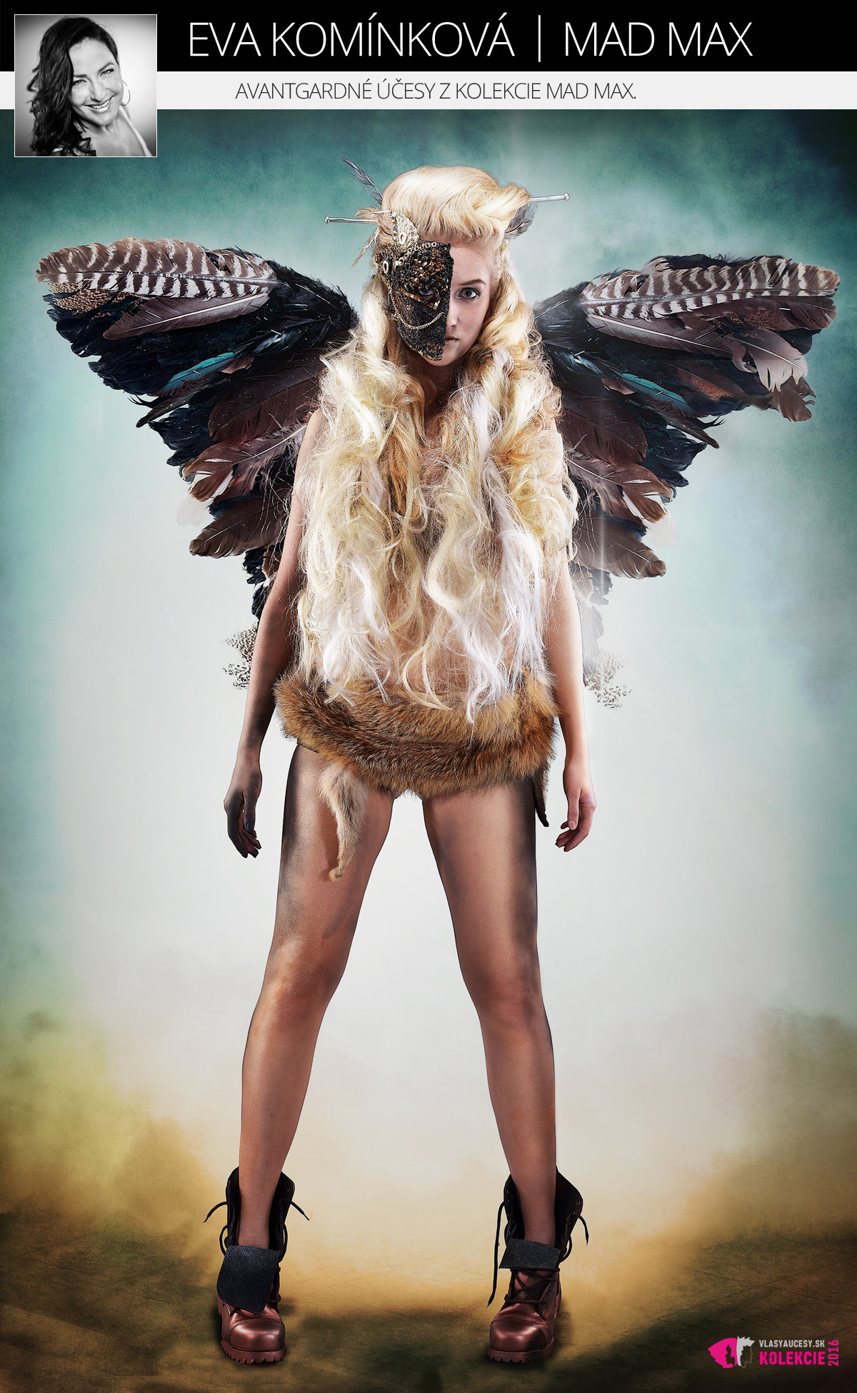 Avantgardné účesy Evy Komínkovej z kolekcie Mad Max.