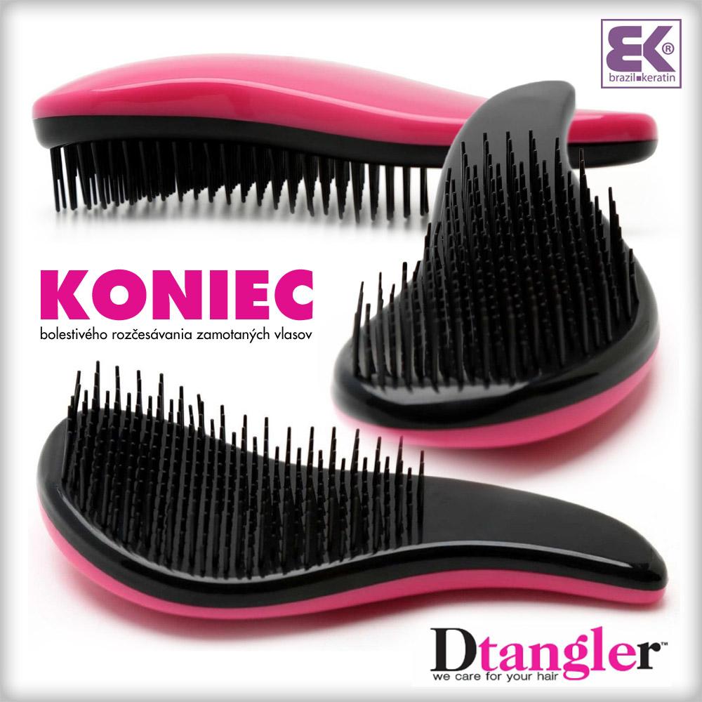 Dtangler znamená koniec bolestivého rozčesávania zamotaných vlasov aj zbytočne vytrhaného vlasového porastu.