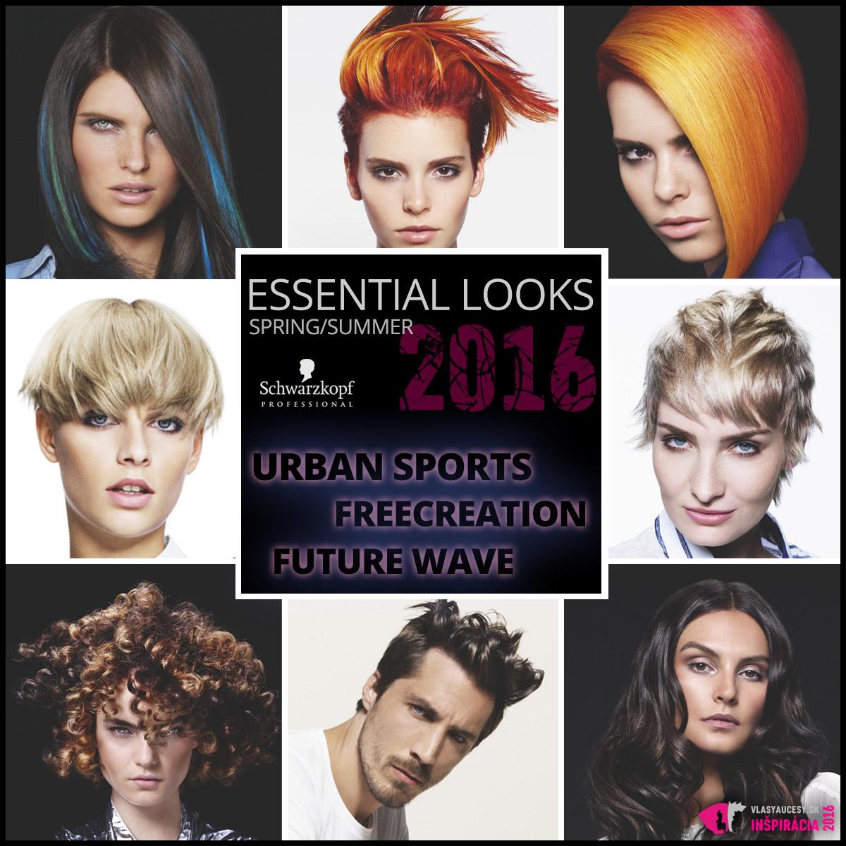 Schwarzkopf Professional predstavuje svoje jarné účesy 2016 v kolekcii Essential Looks S/S 2016.