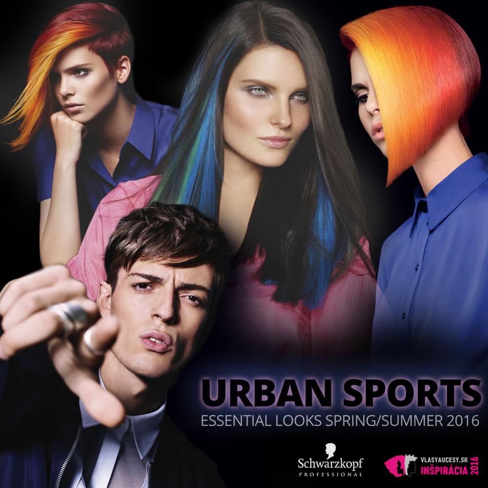 Schwarzkopf Professional predstavuje účesy pre jar a leto 2016 v kolekcii Essential Looks S/S 2016 – Urban Sports.