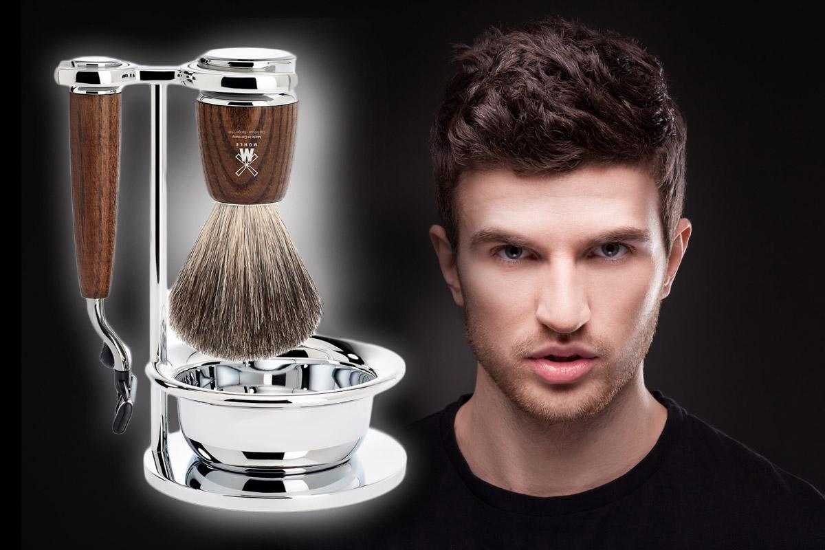 Luxusné sady na holenie so štetkou zmenia vašu každodennú rutinu na zážitkový rituál.