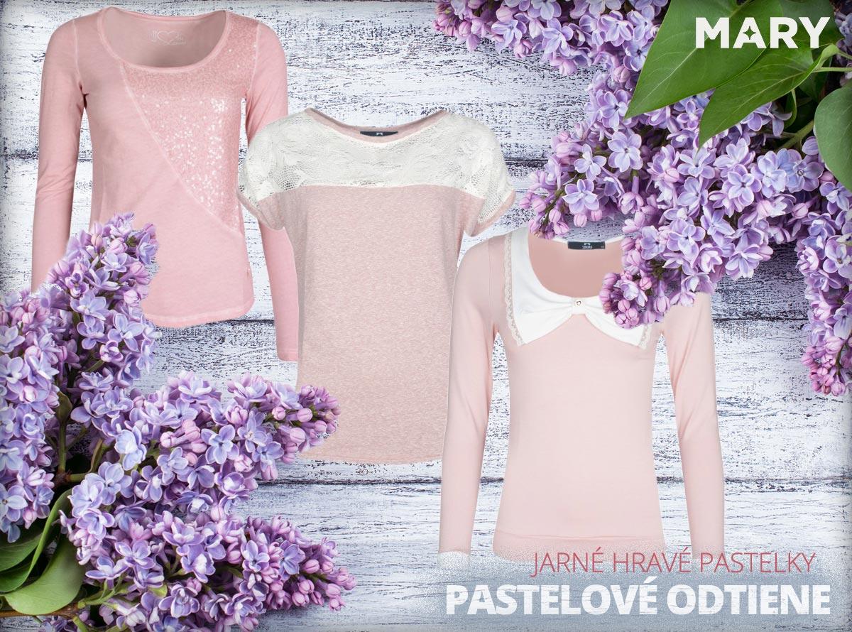Pastelové odtiene móde pristanú. Tento rok na jar porazia pastely aj výrazné odtiene farieb. (Oblečenie na obrázkoch kúpite v e-shope Mary-fashion.sk.)