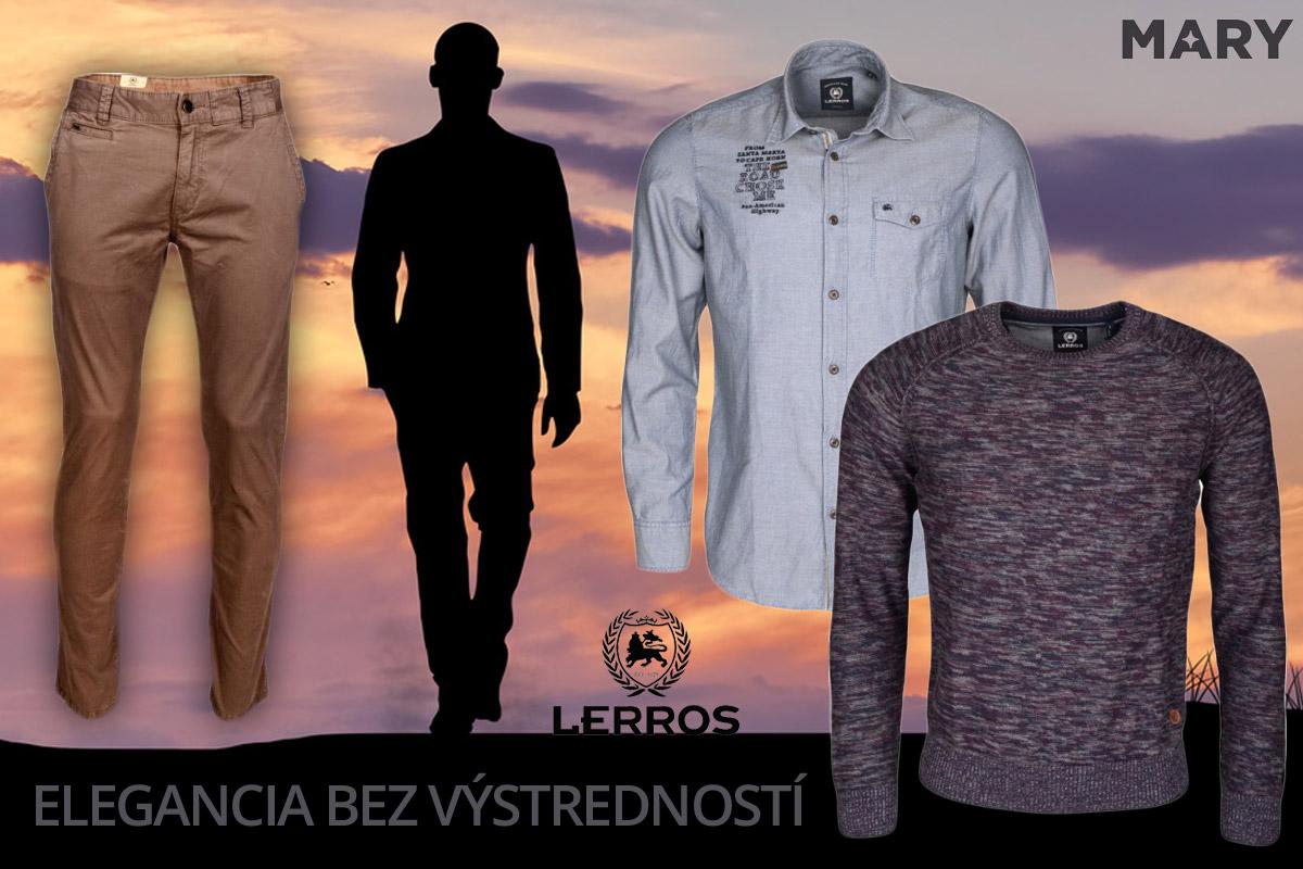 Lerros je sofistikovaná móda bez zbytočných výstredností. (Pánske oblečenie na obrázku kúpite v e-shope Mary-fashion.sk.)