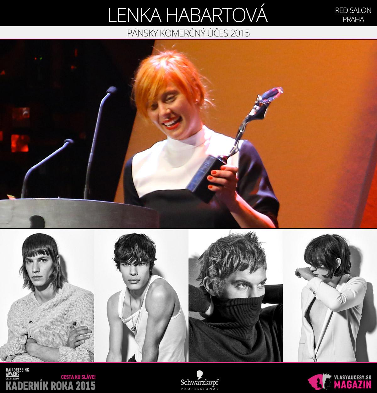Víťazom v kategórii Pánsky komerčný účes Czech and Slovak Hairdressing Awards 2015 je Lenka Habartová zo salónu RED salón v Prahe.