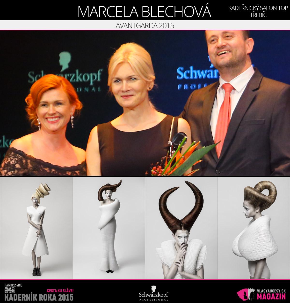 Víťazom v kategórii Avantgarda Czech and Slovak Hairdressing Awards 2015 je Marcela Blechová z kaderníckeho salónu TOP v Třebíči.
