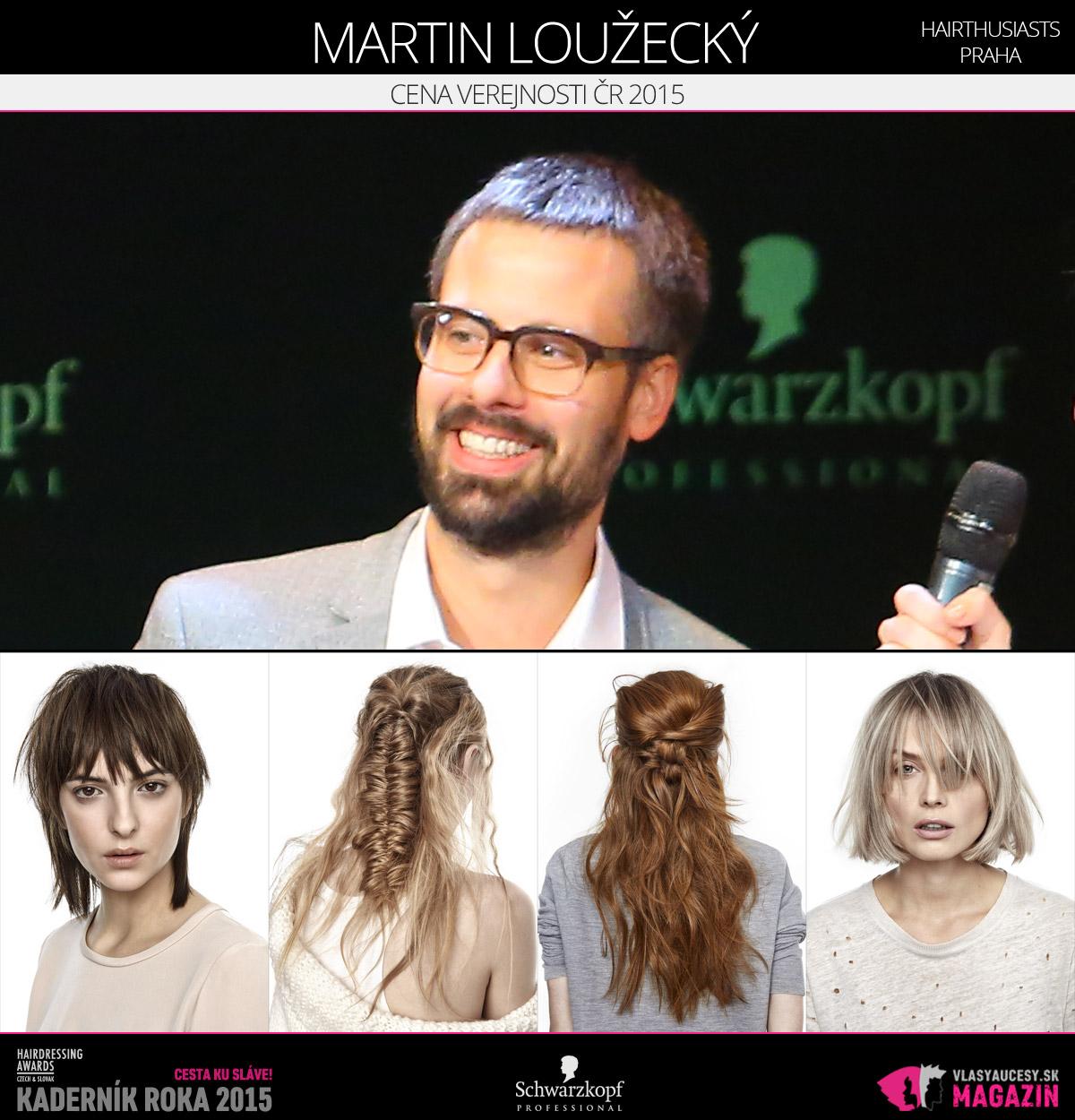 Víťazom v kategórii Cena verejnosti ČR Czech and Slovak Hairdressing Awards 2015 je Martin Loužecký z Hairthusiasts v Prahe.