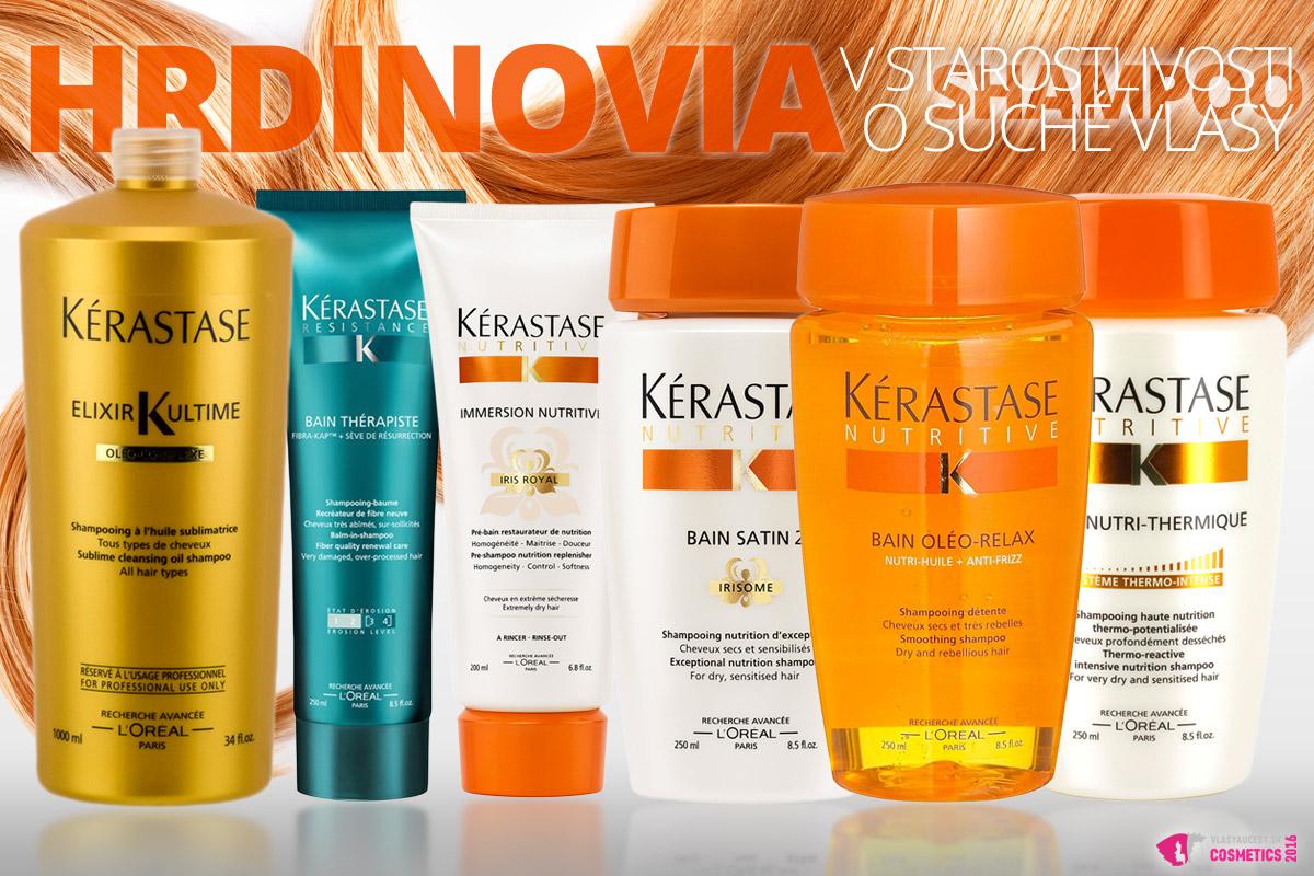 Hrdinovia v starostlivosti o suché vlasy, aneb šampóny Kérastase pre suché vlasy.